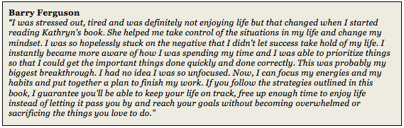 Barry Ferguson Triple Your Time Today! Time Management book Testimonial