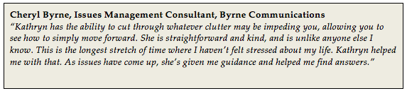 Cheryl Byrne Executive Coaching Testimonial