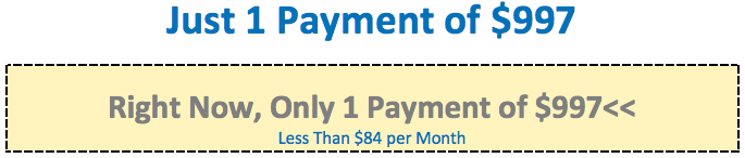 Just 1 Payment of $997